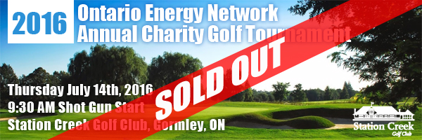 2016 Ontario Energy Network Annual Charity Golf Tournament